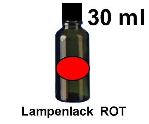 Unbekannt Tauchlack, Lampenlack 30ml gelb,orange,rot,grün,blau,violett (rot)