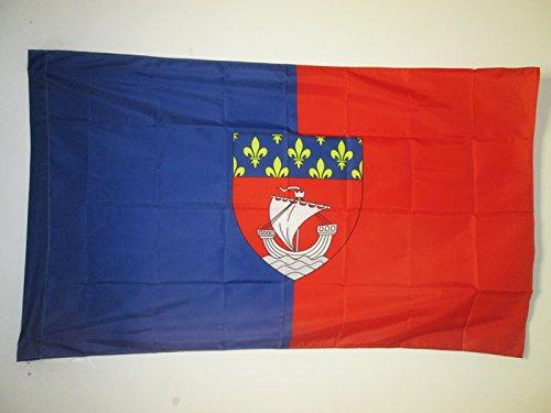 AZ FLAG Flagge DÉPARTEMENT Paris 150x90cm - Paris Fahne 90 x 150 cm Scheide für Mast - flaggen Top Qualität