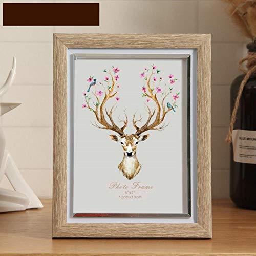 Fotolijst voor fotolijst, wandafbeeldingen, in formaat op standaard, moderne imitatie hout kleur fotolijst voor foto's met afbeelding en kaart voor tafel, stairs, hanging Home Art Decor 10inch