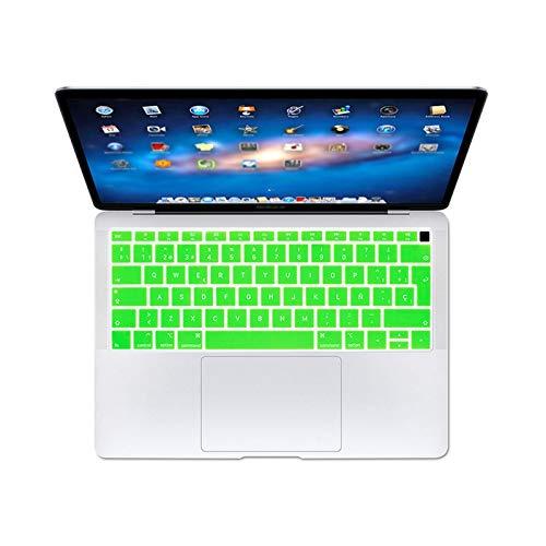 Keyboards Español Eu Teclado teclado protector cubierta cubierta protectora para Apple Macbook For Air 13 13.3 pulgadas A1932 2019 2018 Touch Id-Green