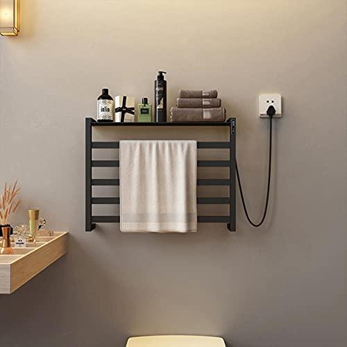 Accesorios de baño Toallero eléctrico calentado, sin perforación. Acero inoxidable esterilización inteligente...