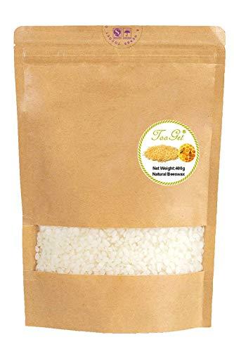 TooGet Reines Weißes Bienenwachs, Natürliches Bienenwachs Pellets, Bienenwachs Pastillen Premium Qualität, Kosmetische Qualität - 400g