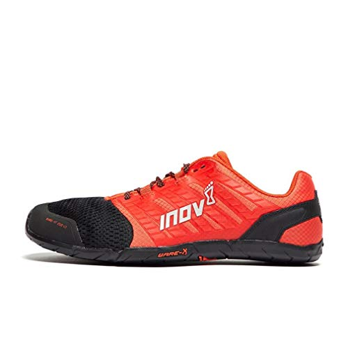 Inov-8 Mens Bare-XF 210 V2 - Barefoot Minimalist Cross Training Shoes - Zero Drop - Wide Toe Box - Versatile Shoe for Powerlifting & Gym - Calisthenics & Martial Arts - Black/Red 8.5 M US