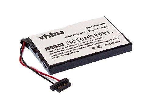 vhbw Li-Ion Akku 720mAh (3.7V) für Navigationsystem GPS Becker Ready 50 EU19, 50 EU20, 50 EU20 LMU, 50 Ice, 50 LMU, 50 LMU Plus wie BP-LP720/11-A1B.