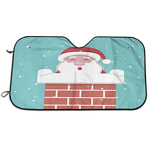 Kerstkaart Kerstman Binnen Open Haard Auto Voorruiten Schaduw Blokken UV Stralen Zonwering Schaduw Zon Schaduw Warmte Isolatie Voorruit Cover 147X118CM