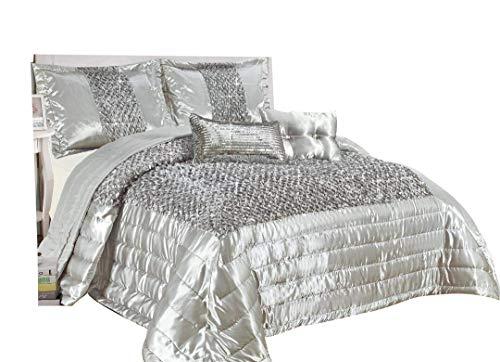 Fancy Crushed Velvet Stardust Shimmer Duvet Cover Quilt Cover Bedding Set Silver