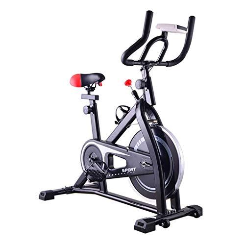 Ejercicio Bicicleta de bicicleta en bicicleta en bicicleta en bicicleta en bicicleta de ciclismo con resistencia magnética silenciosa para el entrenamiento de cardio en casa, con volante pesado y pant