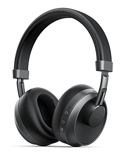 Cuffie Wireless,Cuffie Bluetooth 5 over-ear con microfono, 18 ore di Riproduzione, Cuffie Stereo Senza Fili