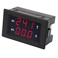 デジタル電圧計、プロフェッショナル電圧計、AC電流計、高精度耐久性変圧器を備えた産業用住宅に簡単に設置可能(Red red)