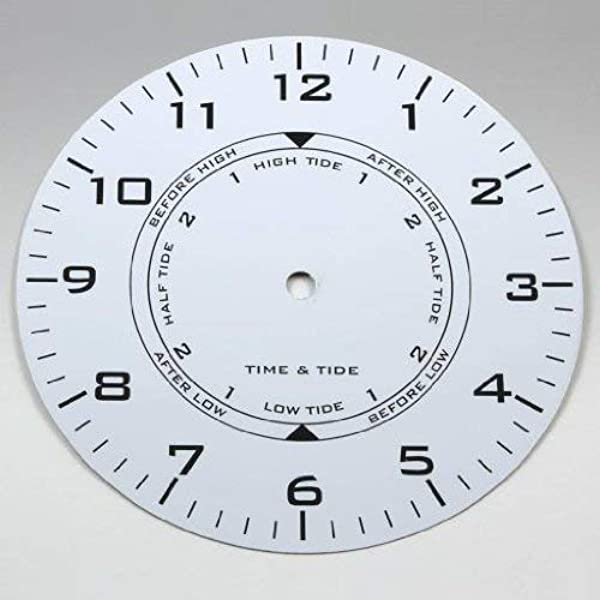 Quality Clock Parts 7 7 8 White Metal Time Tide Dial