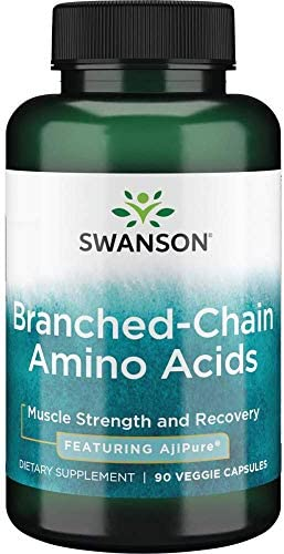 Swanson Ajipure Branched Chain Amino Acids Pharmaceutical Grade 90 Veg Capsules product image