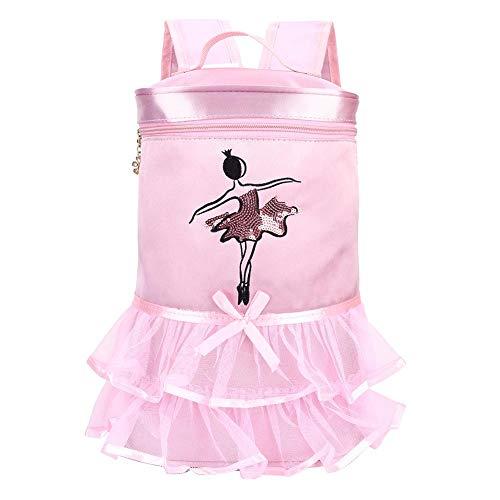 GLOGLOW Ballet Dance Backpack, Custom Dance Bags Personalized Dance Backpacks Dance Bag Embroidered School Shoulder Bag for Girls(Pink)