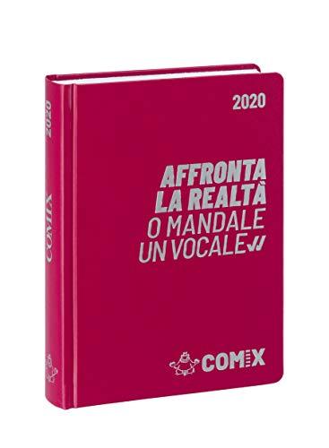 Comix Diario 2019/2020 datato 16 mesi, formato Standard 13x17.8 cm, persian red scritta argento opaco