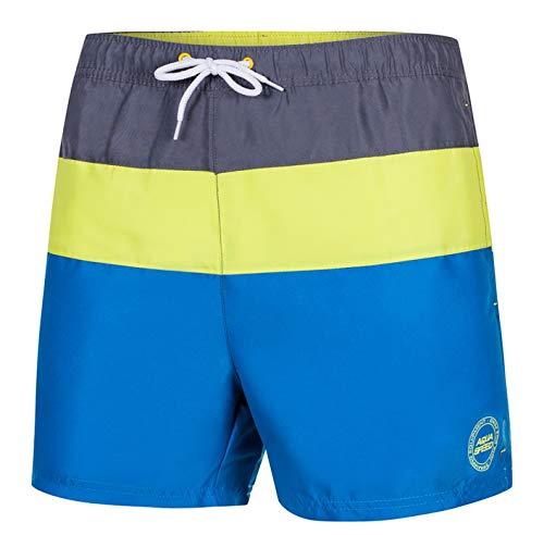 Aquaspeed Herren Badeshorts - Badehose - Stylisch und Bequem - mit Gesäßtasche - Ideal für Schwimmbad Oder Strand - Travis, Grau/Grün/Blau, XXL