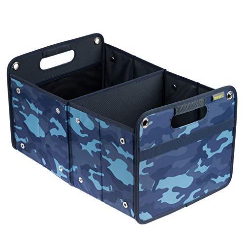 Faltbox Outdoor Camo Blau / Camouflage 32x50x27,5cm abwischbar schmutzabweisend stabil Polyester Flussfahrt Paddeln Draußen Transport Abenteuer wasserabweisend Verladen