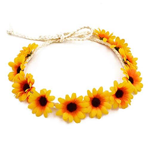 Yuanshenortey Women's Garland Wreath Headband Women's Elastic Hair Band Party Club Accessories