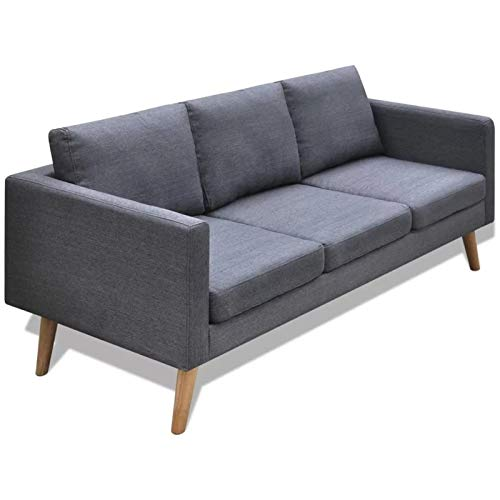 WSZMD Conjuntos Muebles Sofá 3 Plazas Modernos con Armario De Madera con Marco Madera Set Sofá Sala Estar Decoración para El Hogar Estilo Nórdico, Sofá Cama (Color : Grey, Type : Three Seat)