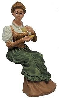 Melody Jane Dollhouse People Man Sitting Reading Legs Crossed Resin Figure