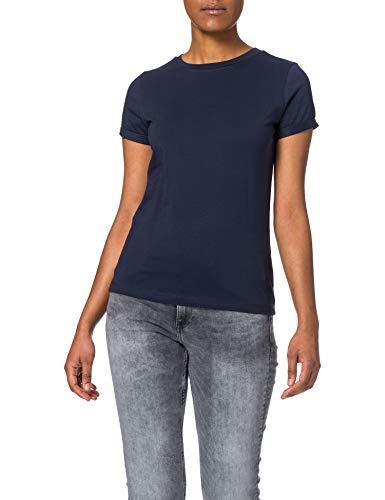 HUGO Damen The Plain Tee 1 10222251 01 T-Shirt, Open Blue464, XS