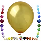 Party Ulyja Gold Balloons 50 Pack Bulk 12 Inch Pearlized Thick Latex Balloons Helium Quality for Graduation Anniversary Thanksgiving Christmas New Year Themed Arch Garland's DIY Decorations Supplies
