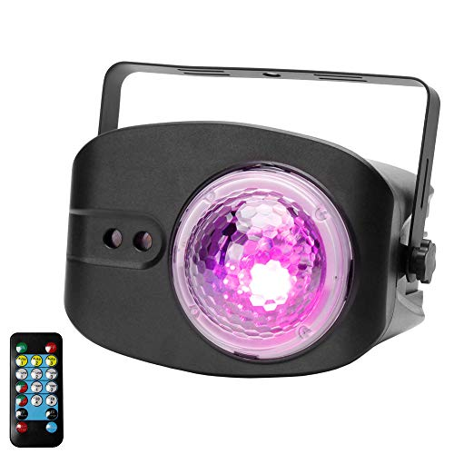 Party Light,Disco Ball Lamp Dj Disco Stage Lighting Projector Strobe Lights Sound Activated with Remote Control for Party Christmas Club Bar Birthday Wedding Home