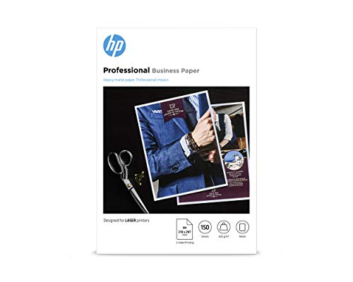 HP Professional Business Photo Paper, 7MV80A, 150 hojas de papel fotográfico mate avanzado, compatible con impresoras...
