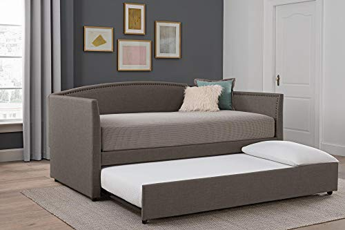 DHP Clara Linen Twin, Grey Daybed, Gray