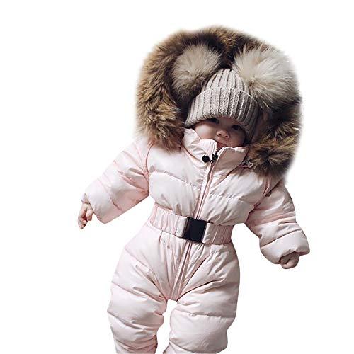 Xiangdanful Babykleidung Baby Overall Junge Mädchen Daunenjacke Winterjacke Strampler Neugeborene Winter Warm Dicker Mantel Plüsch Coat...