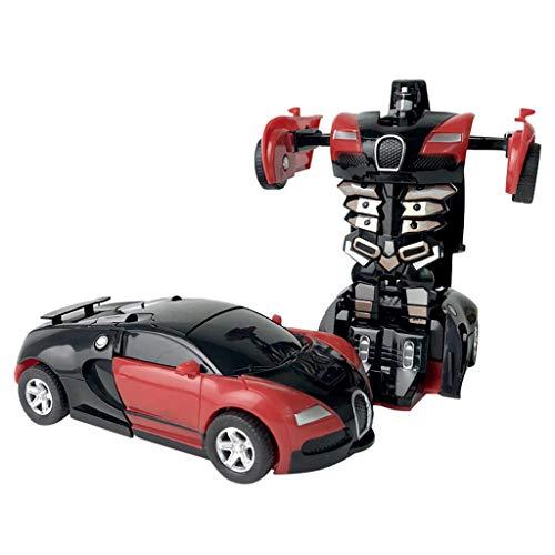 DEtrade Inertia Double Side Stunt Graffiti Auto Off Road Modellauto Fahrzeug Kinder Spielzeug Geschenk Auto Modell (Red-D)
