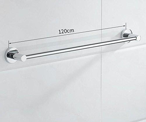 KIEYY Badezimmer ohne Perforation 304 Edelstahl Handtuch pole hängenden Stange verlängern Badezimmer einpolig, zweipolig, Handtuchhalter Badezimmer, 1-polig 120 CM