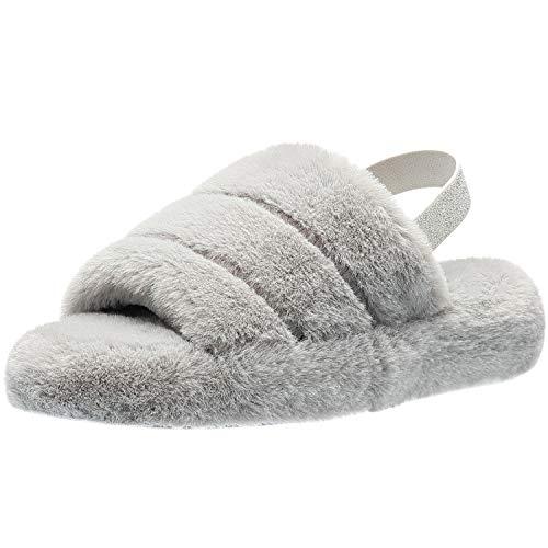[KWESOR] ルームシューズ レディース スリッパ ファッションサンダル 室内履き もこもこ 洗えるスリッパ 軽量 ふわふわ 可愛いスリッパ 低反発 柔らかい おしゃれ 3色 秋冬用