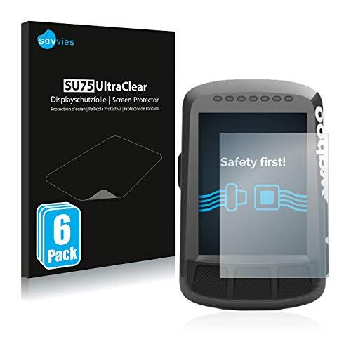 Savvies 6X Schutzfolie kompatibel mit Wahoo Elemnt Bolt GPS Displayschutz-Folie Ultra-transparent