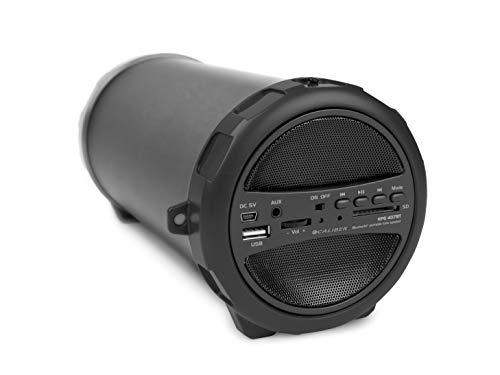 Caliber HPG407BT Portable Bluetooth Lautsprecher mit UKW Radio, SD, USB, AUx-in (3.5mm), schwarz