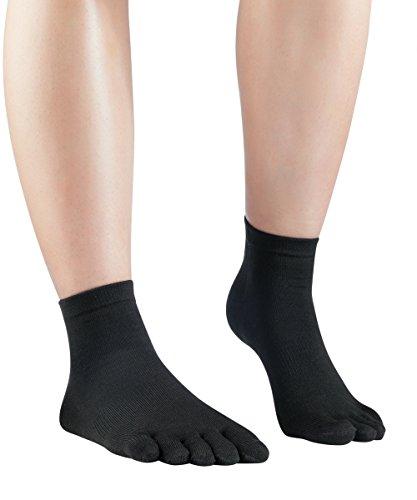 Knitido Kurze Seidensocken Silkroad, Kurze Zehensocken aus Seide, Größe:39-42, Farbe:Schwarz (101)