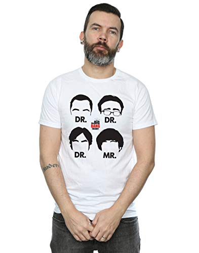 The Big Bang Theory Hombre Doctors and Mr Camiseta Blanco Large