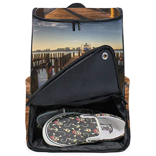 MONTOJ Travel Gear Laptop-Rucksack, Pier Sunrise