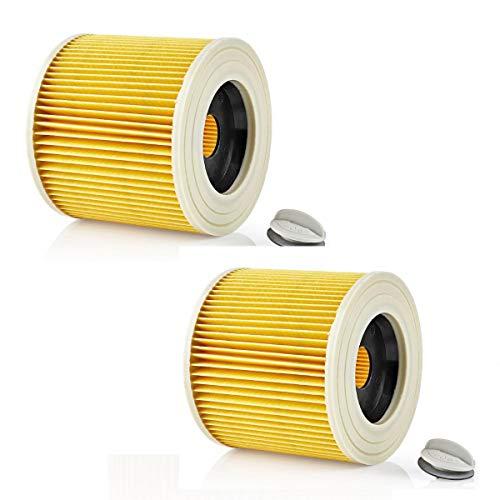 ReleMat 2 Filtros para Aspirador SpareHome® Compatible con Karcher, WD1, WD2 y WD3-6.414 – 552.0/64145520