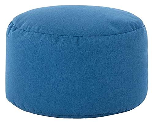 Sywlwxkq Reposapiés y otomanos Reposapiés Reposapiés, sofá Multiusos Taburete Redondo Panel a Base de Madera Desmontable Fácil de Limpiar, (Color: Azul Oscuro)