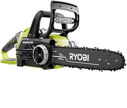 Ryobi ONE+ 12 in. 18-Volt Brushless Lithium-Ion Electric Cordless Chainsaw - 4.0 Ah Battery and Charger Included
