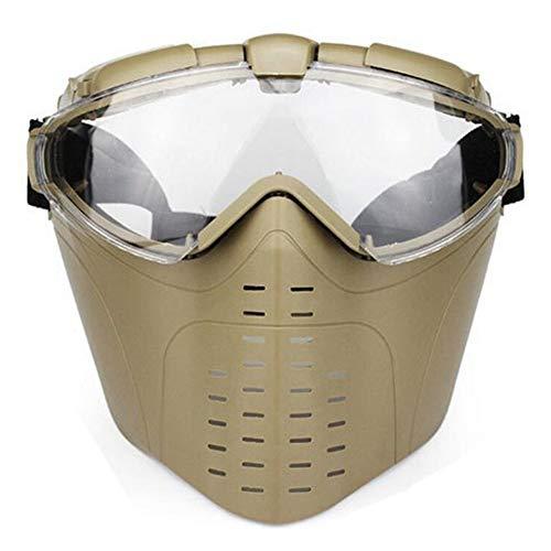 SGOYH Taktisch Fan Version Kühler Airsoft Paintball Glasses Regulator Schutzbrille mit Masken für die Jagd Ski Shooting Snowboard Bike Sport (DE)