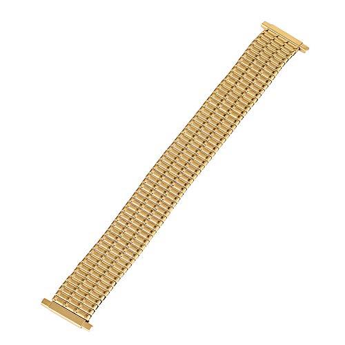 Noble Gold cinturino per orologio da polso in acciaio inox, speciale senza fibbia, resistente cinturino di ricambio in metallo