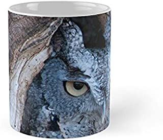 Eastern Screech Owl In The Hollow. Wildlife. Nature. 11Oz Mug - Made From Ceramic - Best Gift For Family Friends.
