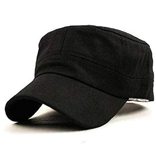 Gorra de béisbol Hombres Mujeres Ajustable del Sombrero del algodón Gorra Lavada Deportes Negro Twill Cap Llanura Estilo clásico 57 * 9cm