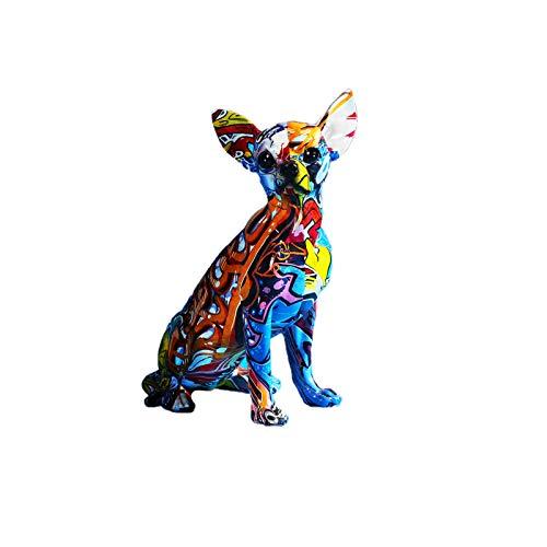 e-dreamstore Moderne kreative Farbe Dackel, Chihuahua, Bulldogge, Welpe, Ornament,...