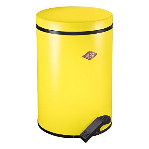 Wesco 117 212-19 Poubelle à pédale 13 l (Jaune citron)