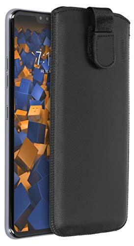 mumbi Echt Ledertasche kompatibel mit LG V40 / V40S ThinQ Hülle Leder Tasche Hülle Wallet, schwarz