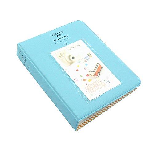 FoRapid Pieces of Moment Instax Mini Photo Album for Instax Mini 8 8+ 9 70 90 7s 25 26 50s/ Pringo 231/ Fujifilm Instax SP-1/ Polaroid PIC-300P/ Z2300 Snap Touch & Name Card(64 +1 Photos, Blue)