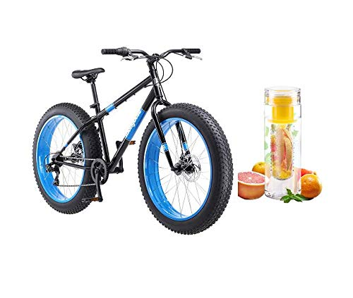 Best Price Mongoose 26 Hitch Men's All-Terrain Fat Tire Bike with Bottle (Black/Red)