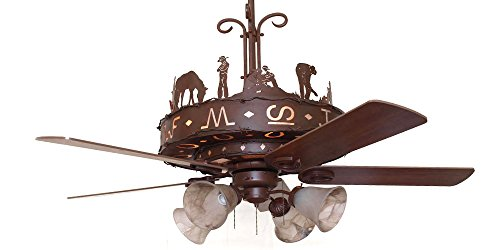 Western Trails Ceiling Fan 60' Blades with Light Kit