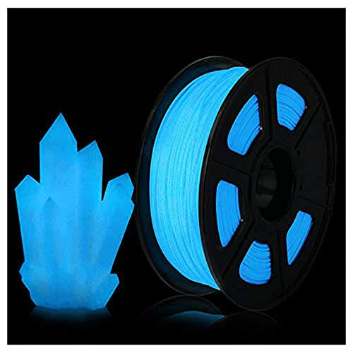 ABS Luminous Filament 1.75mm, 3D Printer Filament, Emits Beautiful Light at Night, 1kg Spool, Blue